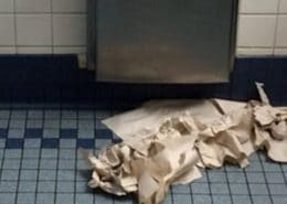 paper towel mess