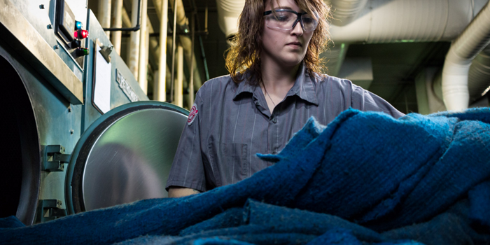 Professional SorbIts® laundering for reuse at our South Bend, IN plant