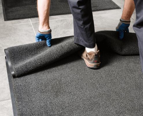 Commercial walk mat rental service