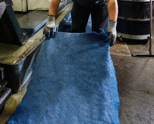 Blue Natural Oil Absorbent Pad