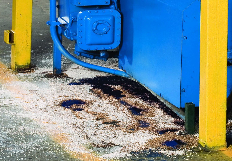 Oil Dry or Kitty Litter